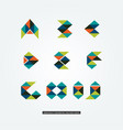 abstract colorful geometric letter type logo sign vector image