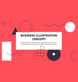 abstract colorful landing page template vector image vector image