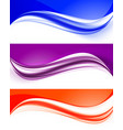 abstract curved wavy lines set vector image vector image