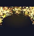 abstract defocused circular christmas golden bokeh vector image vector image