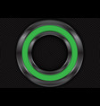 abstract green metal circle on black mesh vector image vector image