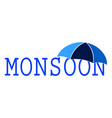 abstract monsoon background vector image