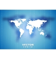 Abstract tech world map background vector image vector image