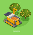 agricultural robots isometric background vector image