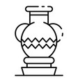 ancient vase icon outline style vector image vector image