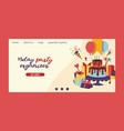 birthday party anniversary landing page design vector image vector image