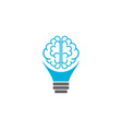 brain bulb logo vector image