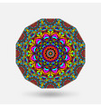 bright color circular kaleidoscope pattern vector image vector image