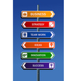 Business strategy to success vector image