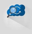 cloud computing arrow refresh search vector image