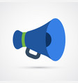 colored megaphone trendy symbol vector image