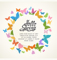colorful spring background with butterflies vector image