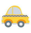 colorful taxi car vehicle to transport service vector image vector image