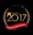 congratulations on graduation 2017 class vector image vector image