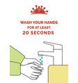 coronavirus poster with text wash your hands vector image vector image
