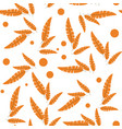 doodle zentangle leaves autumn pattern endless vector image vector image