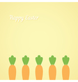 Easter with carrots vector image vector image