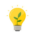 eco bulb lightbulb with green plant germ vector image vector image
