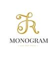 Elegant hand lettered R letter monogram vector image