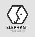 elephant hexagon shape logo icon vector image vector image