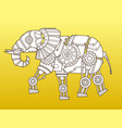 elephant robot color fashion vector image vector image