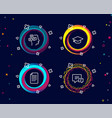 file messages and graduation cap icons comment vector image