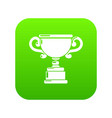 goblet icon green vector image