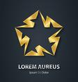 gold star logo made lightnings award 3d icon
