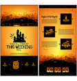 Halloween one page design template vector image vector image