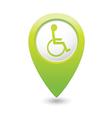 handicap symbol on green marker vector image vector image