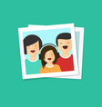 happy family photo flat vector image vector image