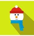 head snowman flat icon vector image vector image