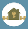 Home With Key Property Concept Card vector image vector image