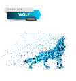 ice wolf howls - dot vector image