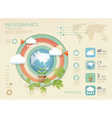 infographic eco Modern soft colo vector image vector image