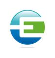 Logo Abstract Icon Circle Square Letter E Design vector image vector image