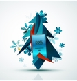 Merry Christmas tree with stickers vector image vector image