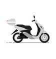 modern scooter isolated on white icon vector image vector image