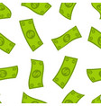 Money flow seamless pattern falling dollars