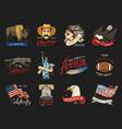 native american set old labels or badges