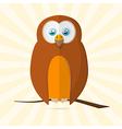Owl Retro Paper vector image