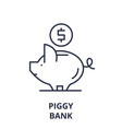 piggy bank line icon concept piggy bank vector image vector image