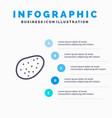 potato food line icon with 5 steps presentation vector image vector image