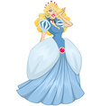 Princess Cinderella In Blue Dress vector image