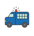 prisoner transport van police related icon vector image vector image