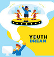 rapper dream youth dream background vector image