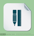 ruler and pencil characters geometry vector image vector image