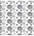 rustic roses and hearts background icon vector image vector image