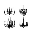 Set of chandelier designs vector image vector image