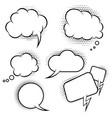 set of comic style speech balloons design vector image vector image